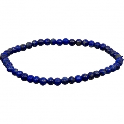 4mm Lapis Lazuli Stretch Bracelet for Throat Chakra | Shasta Rainbow Angels