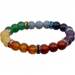 8mm Chakra Stretch Bracelet | Shasta Rainbow Angels