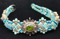 Isha Peridot & Sterling Silver Bracelet | Shasta Rainbow Angels