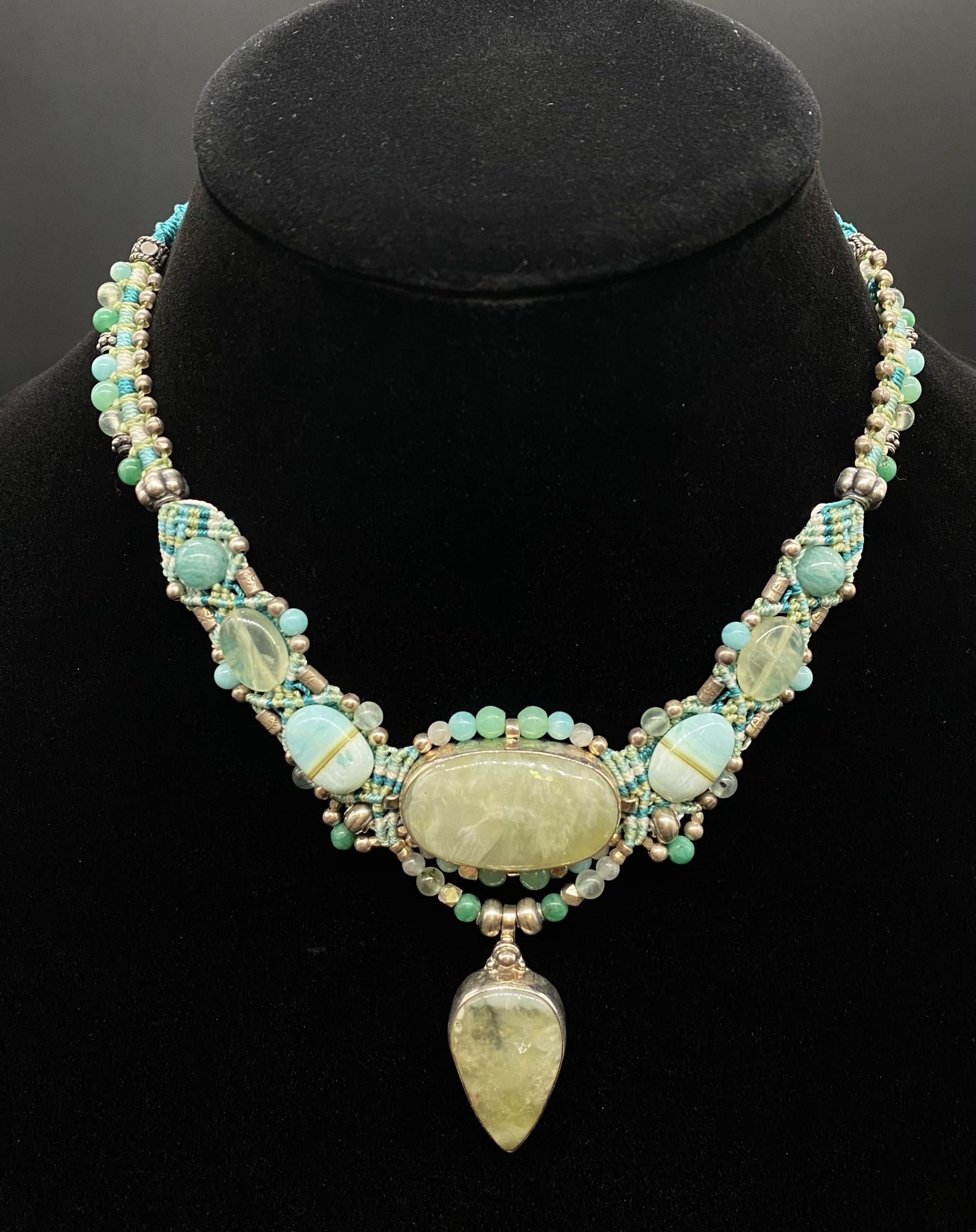 Isha Necklace Prehnite and Green | Shasta Rainbow Angels