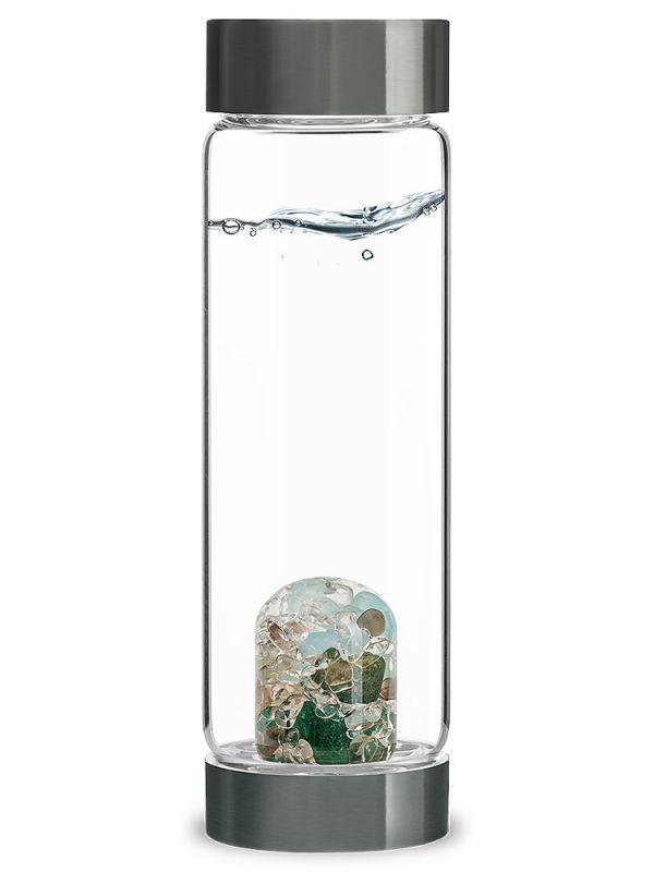 Forever Young Aquamarine Aventrine & Smokey Quartz Vita Juwel Crystal Water Bottle| Shasta Rainbow Angels