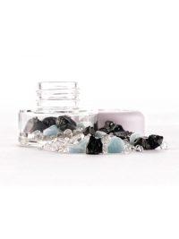 Changeable Crystal Jar Shungite & Larimar | Shasta Rainbow Angels
