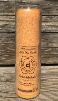 love sacral Chakra Fragrance Free Jar Candle | Shasta Rainbow Angels