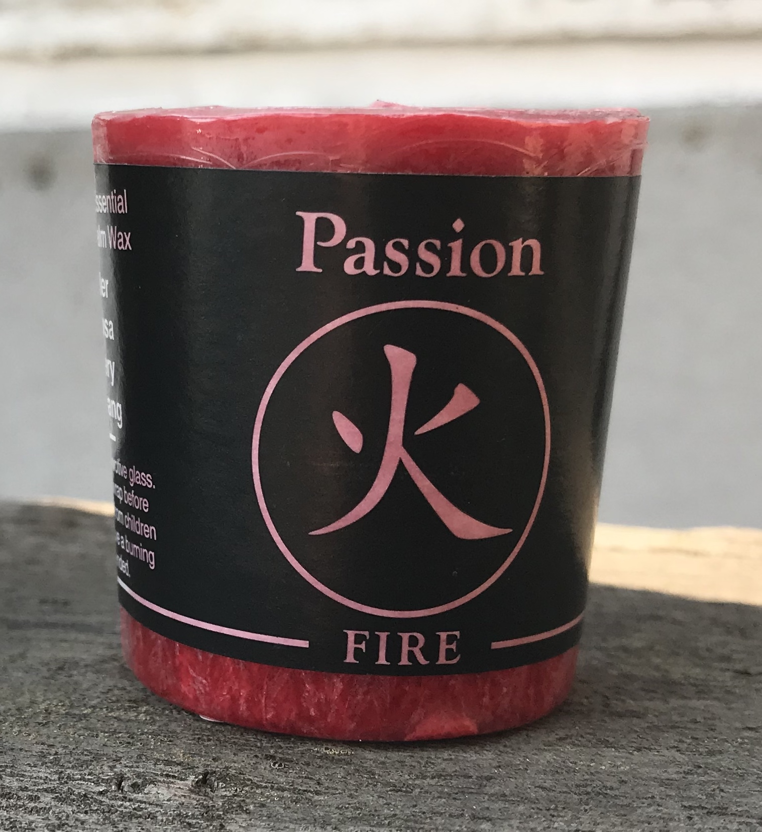 FengShui Fire Passion Votive Candle Palm Wax 100% Pure Essential Oil | Shasta Rainbow Angels