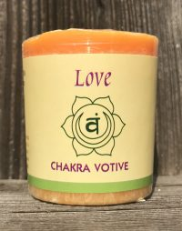 Sacral Chakra Svadhisthana 100% Pure Essential Oil Votive Candle | Shasta Rainbow Angels