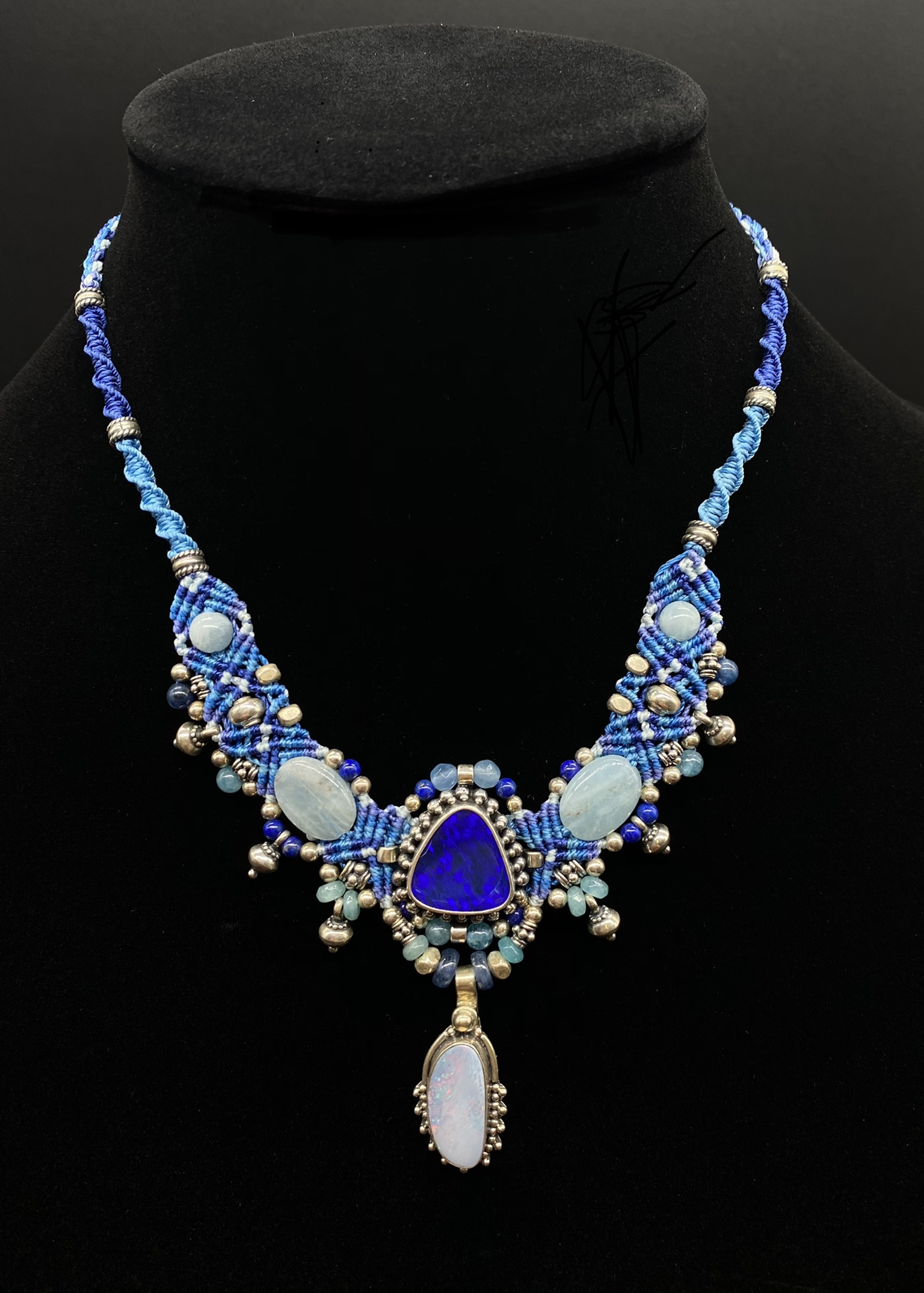 Lapis Lazuli Isha Elafi Sterling Silver Necklace | Shasta Rainbow Angels