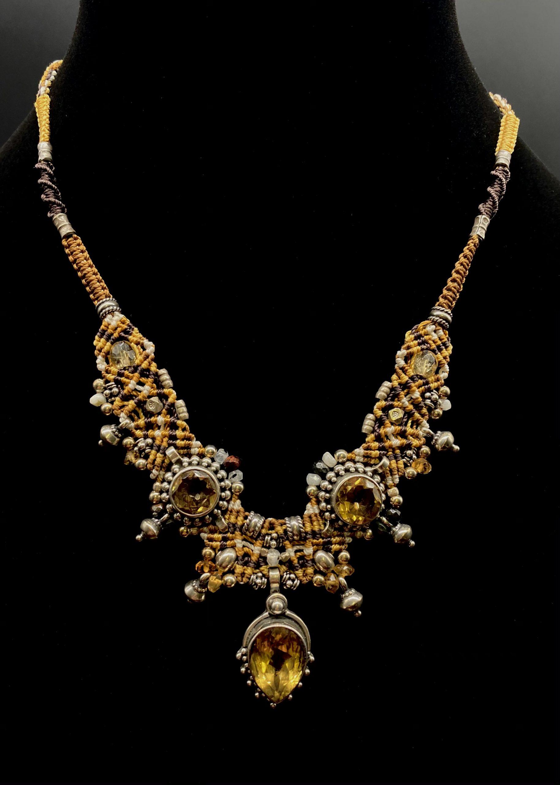 Citrine Isha Elafi Sterling Silver Necklace | Shasta Rainbow Angels