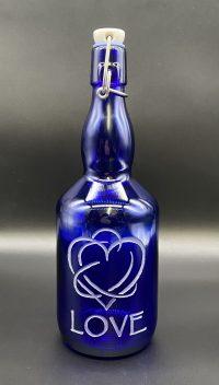 Love Blue Bottle Love 27oz Water Bottle | Shasta Rainbow Angels