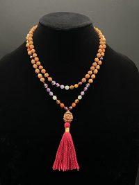 Chakra & Rudraksha Prayer Bead Mala | Shasta Rainbow Angels