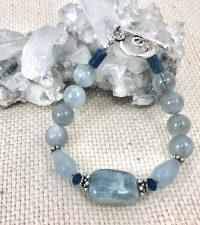 Aquamarine & apatite Bracelet | Shasta Rainbow Angels
